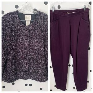 🔥30%OFF🔥EUC blazer/pants purple set